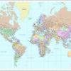 Planisferio Mercator Político