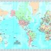 Planisferio Mercator Político Centrado en América