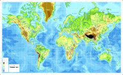 Planisferio Mercator Físico