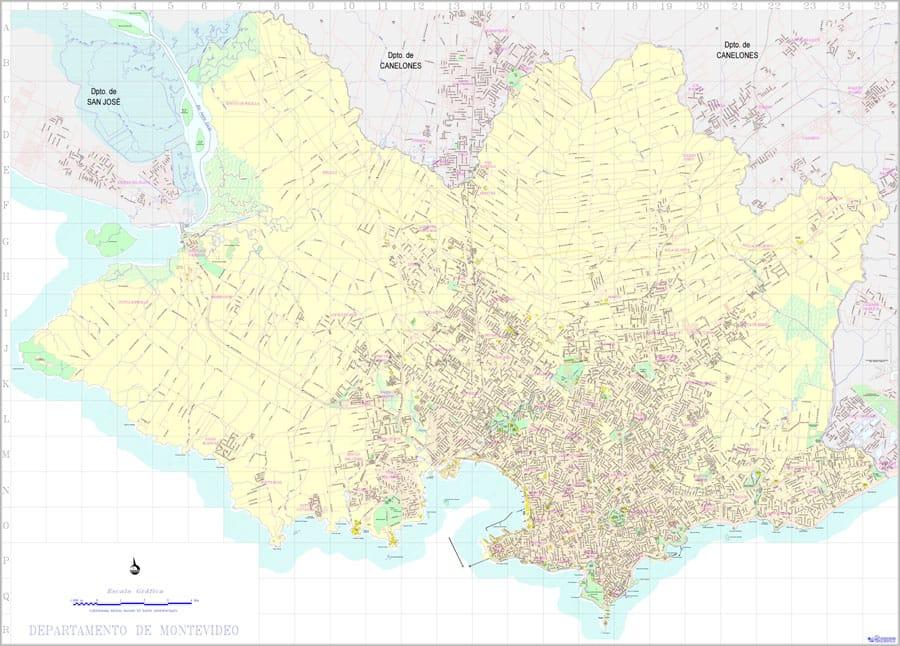 Mapa de Montevideo Departamental