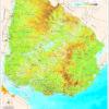 Mapa de Uruguay Físico